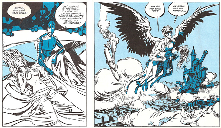 Vignette del fumetto Barbarella
