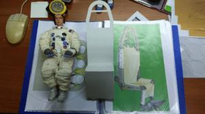 Modellino astronauta