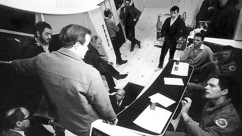 Stanley Kubrick, Douglas Trumbull, Keir Dullea, Gary Lockwood