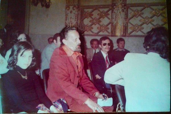 da sinistra io, T. Sturgeon, Junio, di spalle G. Mongini