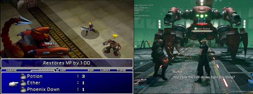 FInal Fantasy: a stessa battaglia nei due giochi