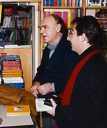Filippo Radogna con Alberto Bevilacqua