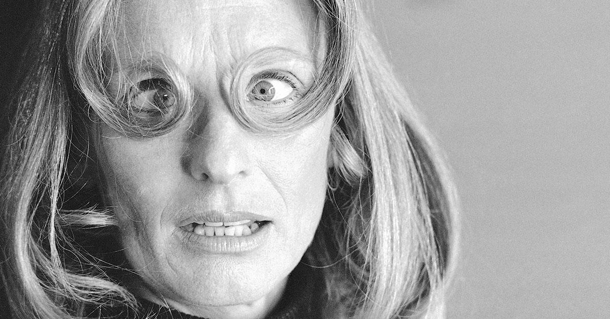 Divertente espressione di Cloris Leachman